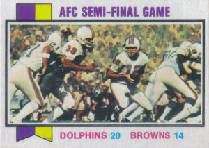 AFC Semi-Final Playoff Game 1973 Topps #136 football card