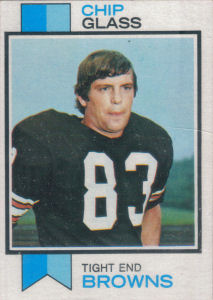 Chip Glass Rookie 1973 Topps #203 football card
