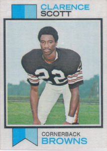 Clarence Scott Rookie 1973 Topps #103 football card