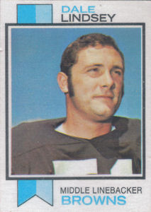 Dale Lindsey Rookie 1973 Topps #287 football card
