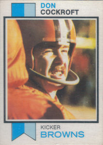 Don Cockroft 1973 Topps #79 football card