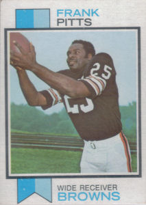 Frank Pitts Rookie 1973 Topps #429 football card