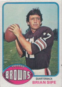 Brian Sipe Rookie 1976 Topps #516 football card