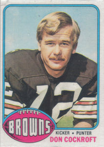 Don Cockroft 1976 Topps #23 football card