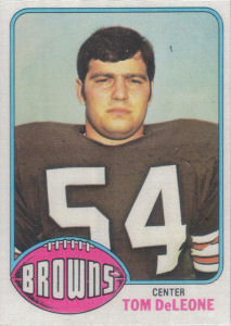 Tom DeLeone Rookie 1976 Topps #187 football card