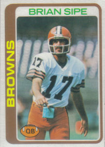 Brian Sipe 1978 Topps #53 football card