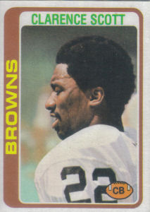 Clarence Scott 1978 Topps #433 football card