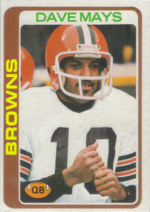 Dave Mays Rookie 1978 Topps #353 football card