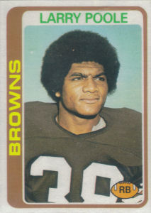 Larry Poole Rookie 1978 Topps #184 football card