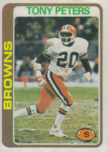 Tony Peters Rookie 1978 Topps #113 football card