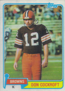 Don Cockroft 1981 Topps #458 football card