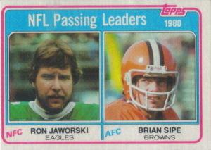 NFL Passing Leaders 1981 Topps #1 football card