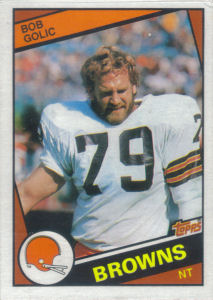 Bob Golic Rookie 1984 Topps #53 football card