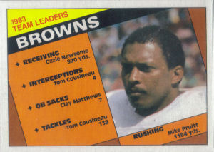 Browns Team Leaders 1984 Topps football card