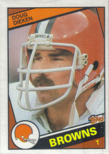 Doug Dieken 1984 Topps #52 football card