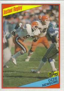 Ozzie Newsome Instant Replay 1984 Topps #59 football card