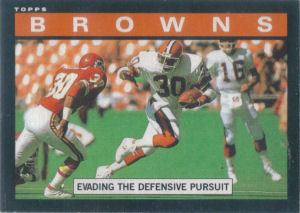 Browns Team Leaders 1985 Topps football card