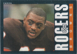 Don Rogers Rookie 1985 Topps #234 football card