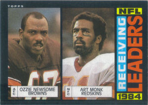 NFL Receiving Leaders 1985 Topps #193 football card