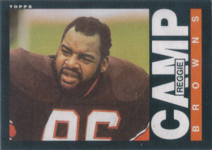 Reggie Camp Rookie 1985 Topps #224 football card