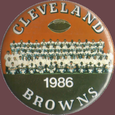 1986 Browns Team Photo Badge