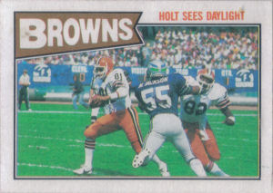 Browns Team Leaders 1987 Topps football card