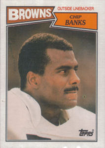Chip Banks 1987 Topps #91 football card