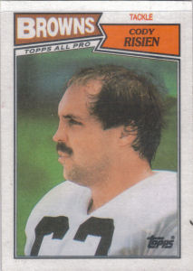 Cody Risien 1987 Topps #87 football card