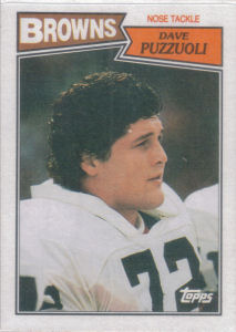Dave Puzzuoli Rookie 1987 Topps #95 football card