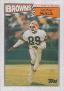 Gerald McNeil Rookie 1987 Topps #94 football card