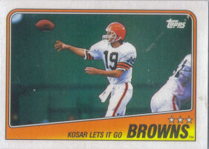 Browns Team Leaders 1988 Topps football card