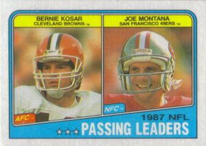 NFL Passing Leaders 1988 Topps #215 football card