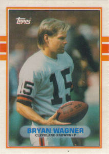 Bryan Wagner Rookie 1989 Topps Traded #78T football card