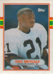 Eric Metcalf Rookie 1989 Topps Traded #50T football card