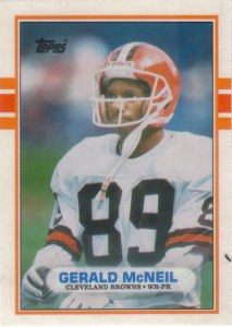 Gerald McNeil 1989 Topps Traded #88T football card