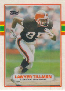Lawyer Tillman Rookie 1989 Topps Traded #41T football card