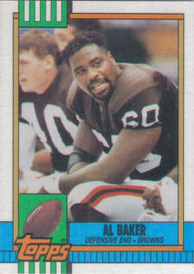 Al Baker 1990 Topps #171 football card