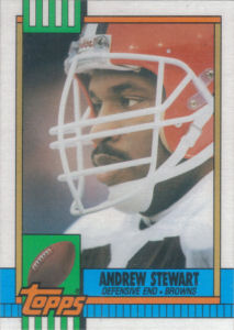 Andrew Stewart Rookie 1990 Topps #173 football card