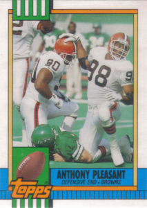 Anthony Pleasant Rookie 1990 Topps Traded #14T football card