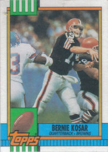 Bernie Kosar 1990 Topps #163 football card