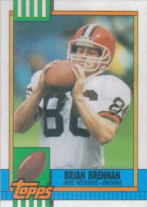 Brian Brennan 1990 Topps #160 football card