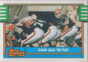 Browns Team Leaders 1990 Topps football card