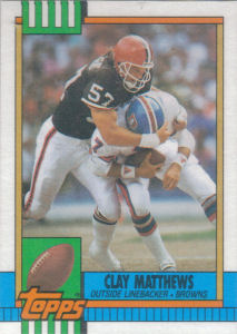 Clay Matthews 1990 Topps #172 football card