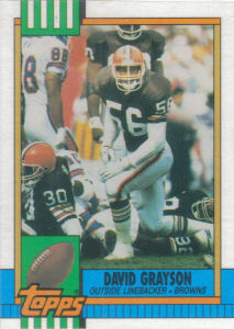 David Grayson 1990 Topps #164 football card