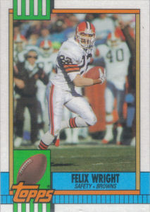 Felix Wright 1990 Topps #169 football card