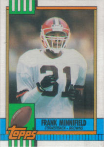 Frank Minnifield 1990 Topps #159 football card