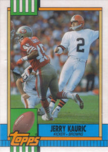 Jerry Kauric Rookie 1990 Topps Traded #21T football card