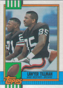 Lawyer Tillman 1990 Topps #156 football card