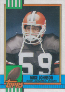 Mike Johnson 1990 Topps #166 football card