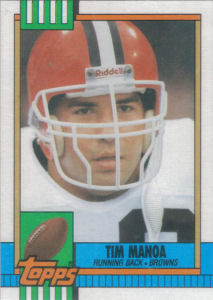 Tim Manoa Rookie 1990 Topps #167 football card